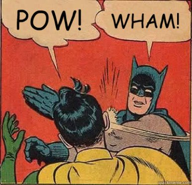 wham batman slap