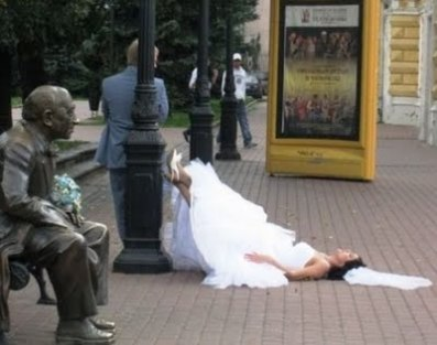 asleep drunk bride