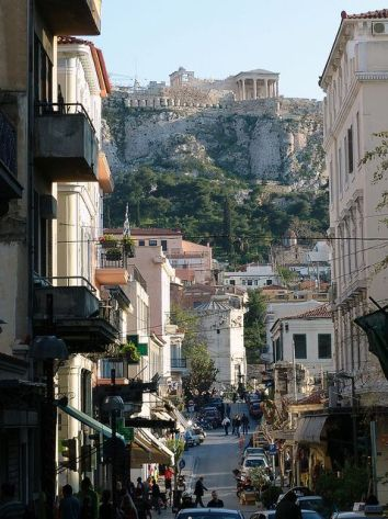 walk up to acropolis