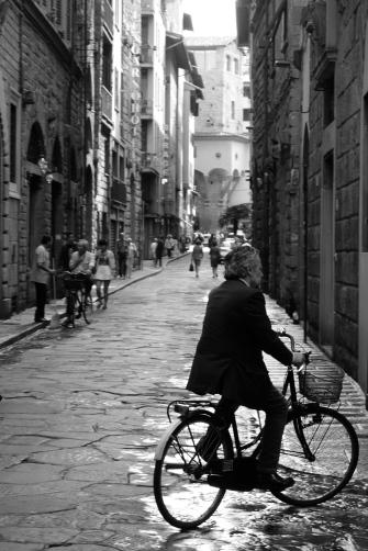 Man riding bike Florence