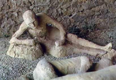 pompeii frozen person