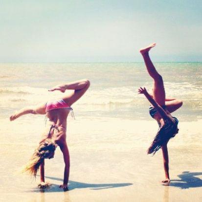 cartwheel on the beach