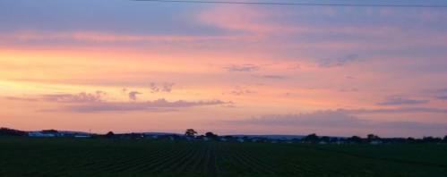midwest sun set