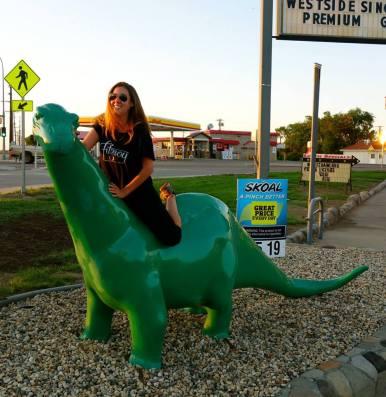 riding the dino